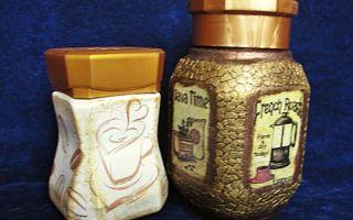 Кофейный декупаж: оригинальные баночки для хранения продуктов
