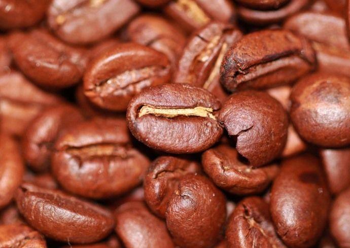 кофейные зерна крупно