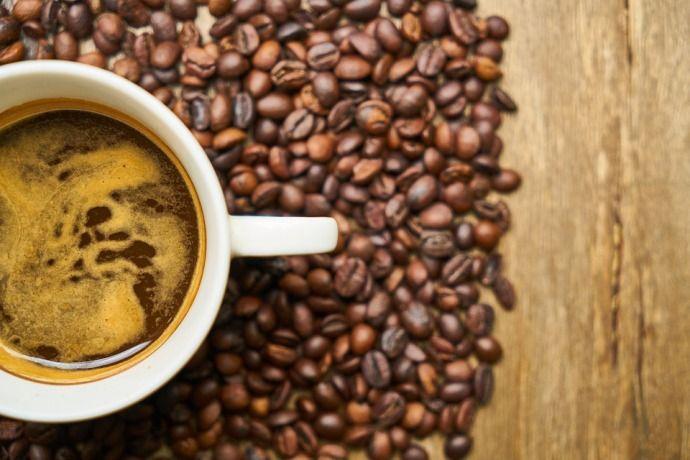 кофе, чашка, зерна