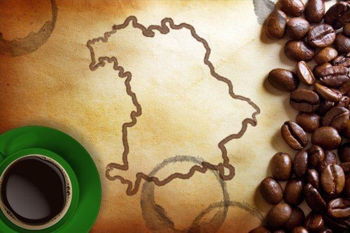 кофе, карта баварии