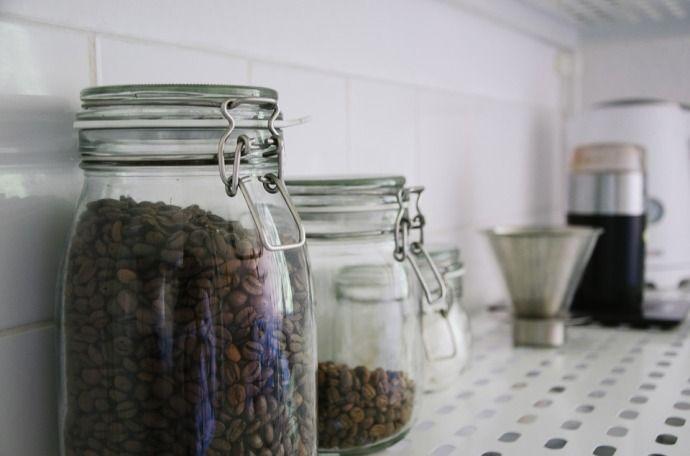 стеклянные банки для хранения кофе