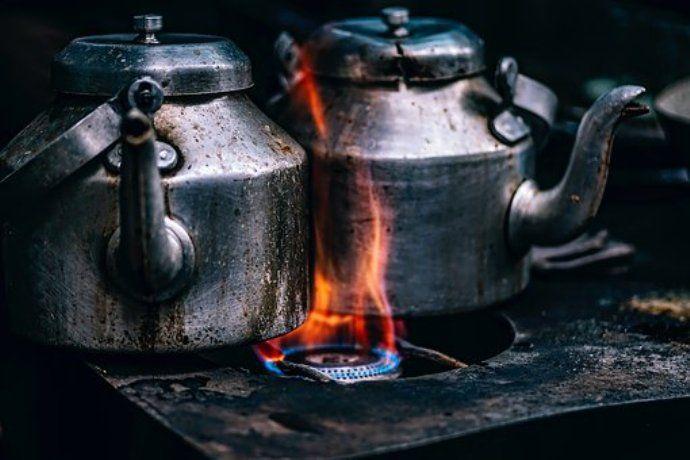чайники на плите