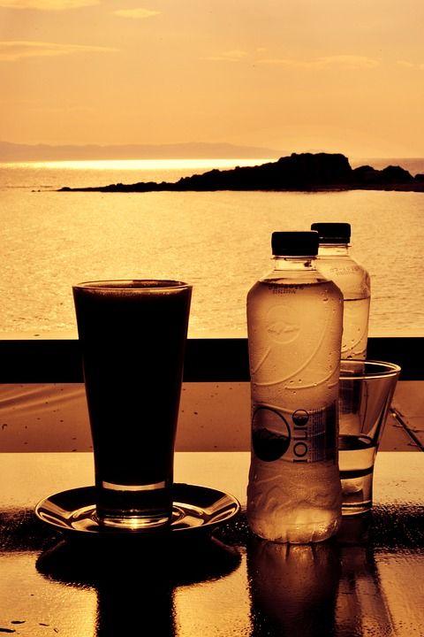 кофе на закате. Греция