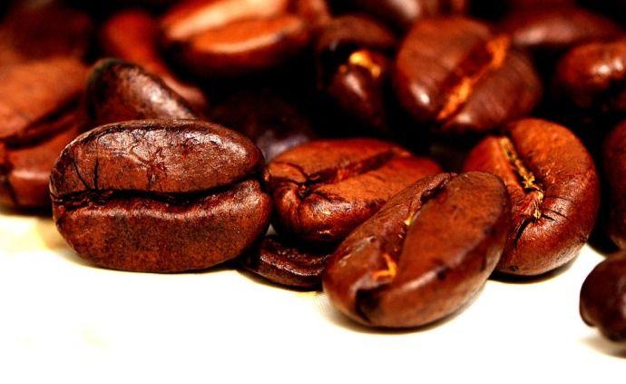 зерна кофе крупно