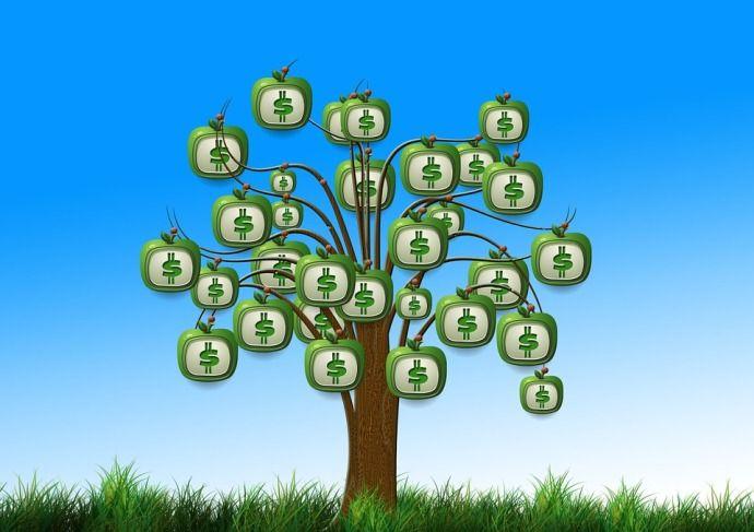 дерево с деньгами