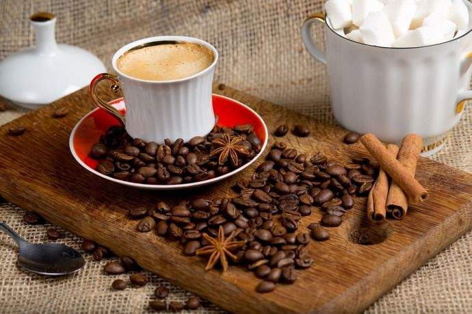коричный кофе