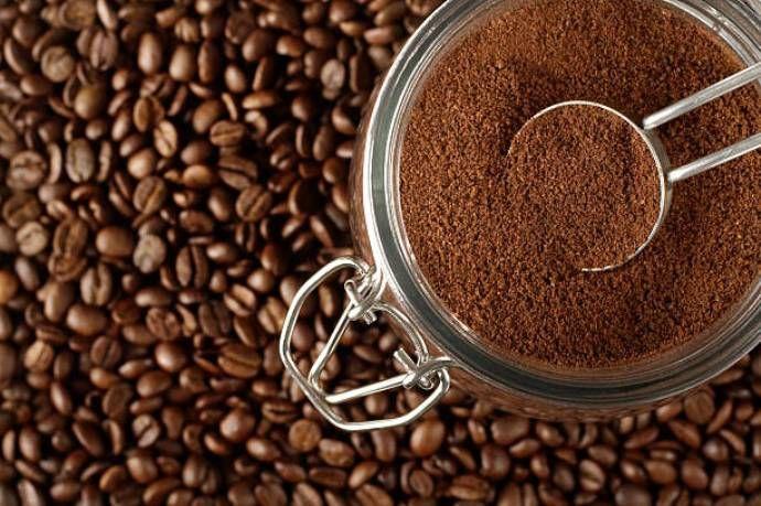 молотый кофе в банке