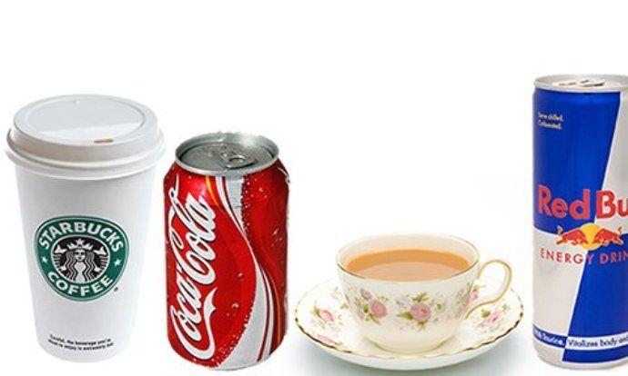 кофе, кола, энергетик