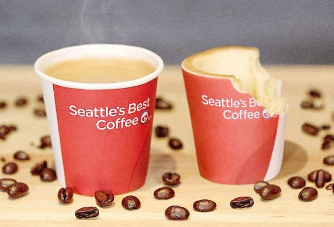 кофе в съедобных стаканчиках