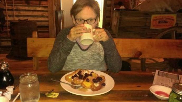 кофе за плотным обедом