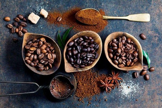разные степени обжарки кофе