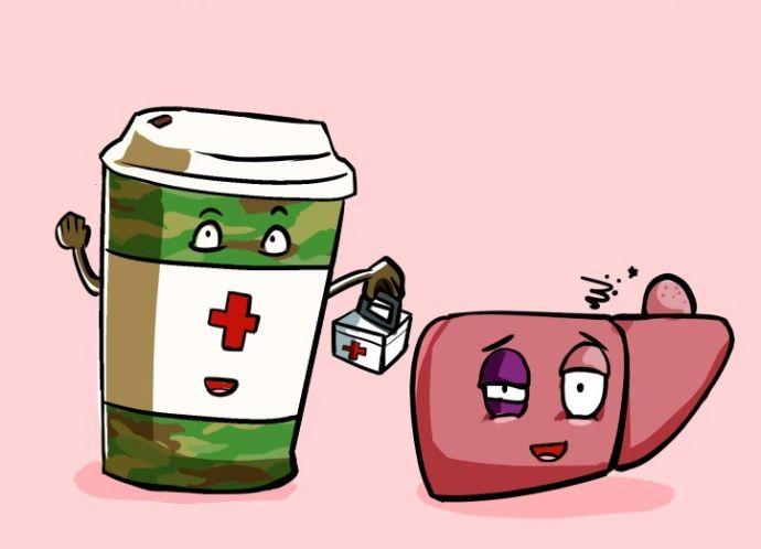 кофе помогает печени