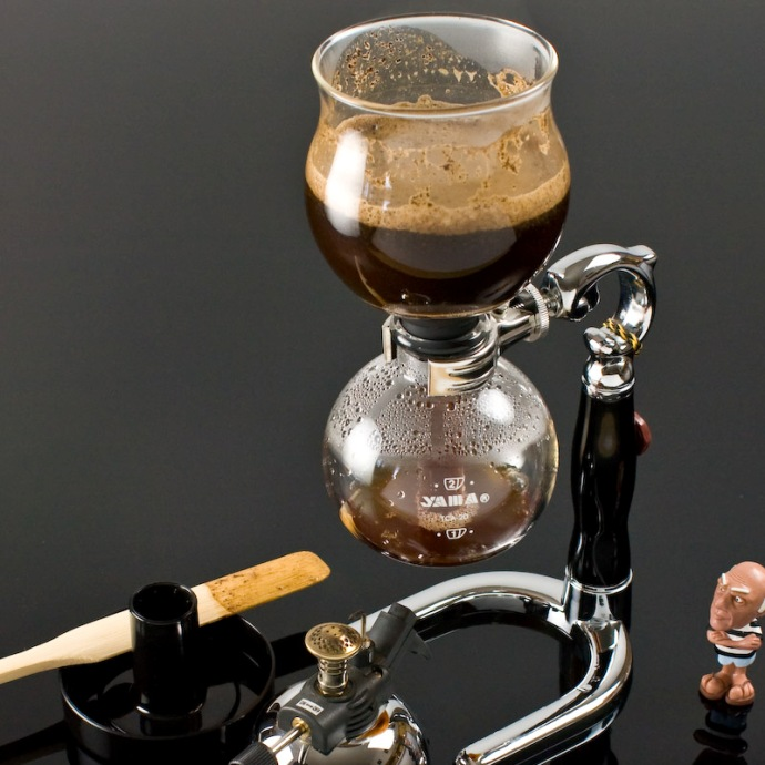 кофе в вакуумной кофеварке