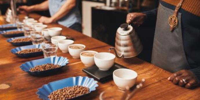 процесс дегустации кофе