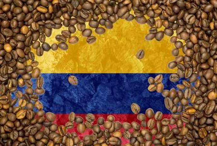 флаг венесуэлы в кофейных зернах