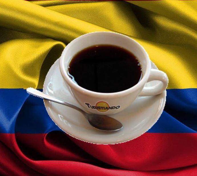 чашка кофе на флаге Венесуэлы