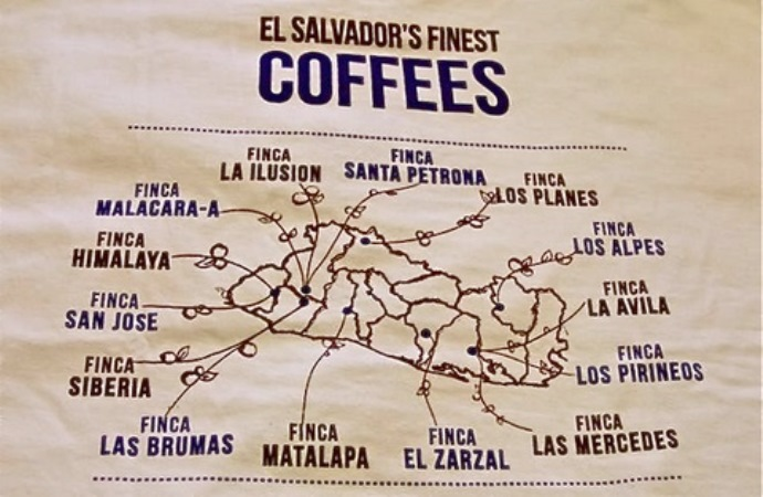 регионы выращивания кофе в Сальвадоре