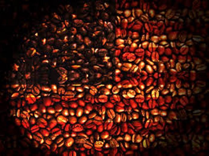 флаг США из кофейных зерен