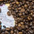 карта Перу в кофейных зернах
